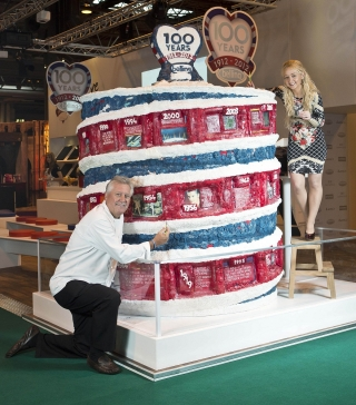 Belling's Giant Birthday Cake, BBC Good Food Show, December 2012