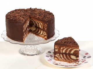 Ruby's Chocolate and Vanilla Zebra Cake