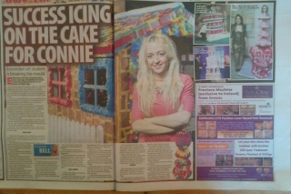 Connie Viney Cakes double page spread in The Sunday Life