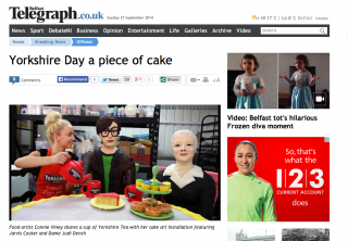 Yorkshire Day cake sculpture in The Belfast Telegraph