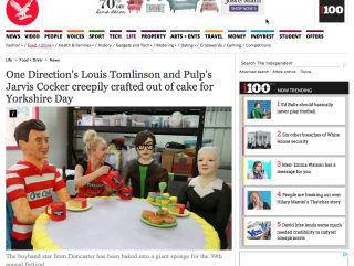 Yorkshire Day cake sculpture gets featured in The Independent Newspaper